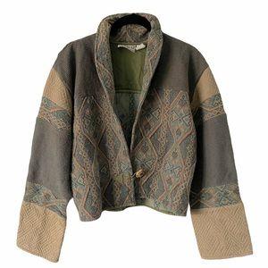 Vintage Flashback Tapestry Western Boho Blazer